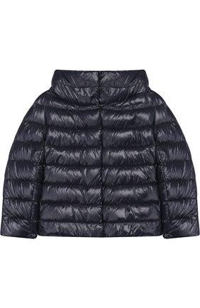 Стеганая куртка с воротником-стойкой   Фото №1