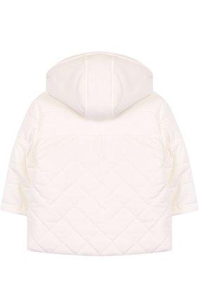 Детского утепленная куртка с капюшоном LORO PIANA белого цвета, арт. FAG3867 | Фото 2