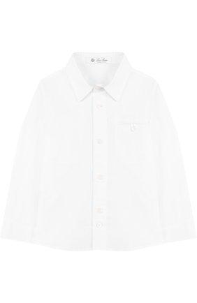 Хлопковая рубашка с воротником кент   Фото №1