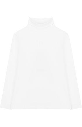 Детская хлопковая водолазка Aletta белого цвета   Фото №1