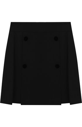 Мини-юбка джерси с декоративными пуговицами | Фото №1