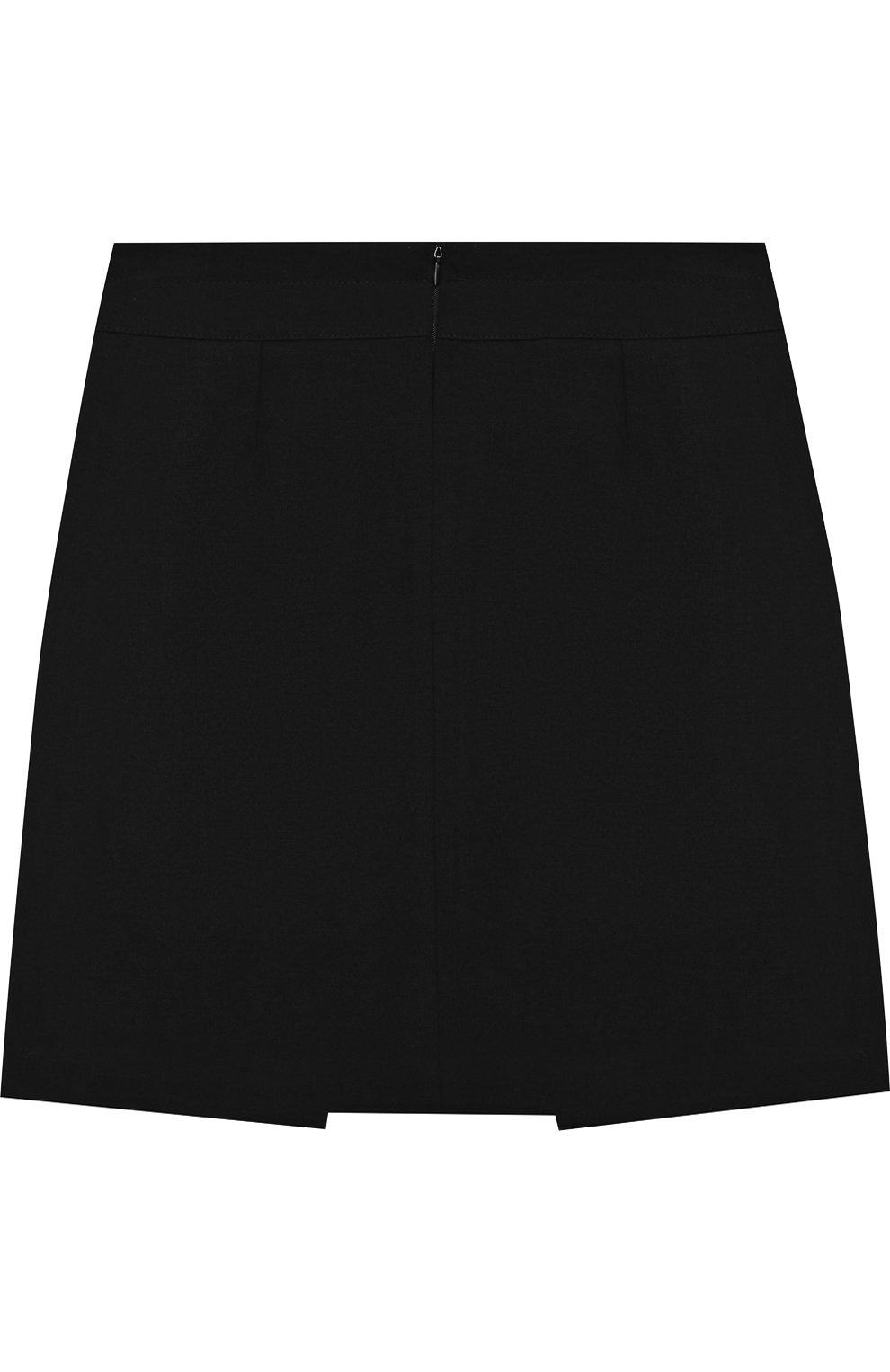 Мини-юбка джерси с декоративными пуговицами | Фото №2