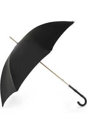 Женский зонт-трость PASOTTI OMBRELLI черного цвета, арт. 189/RAS0 5K253/1/Z16 | Фото 2
