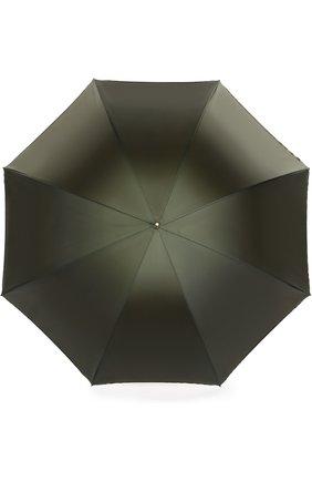 Зонт-трость Pasotti Ombrelli зеленый | Фото №1