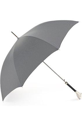 Зонт-трость Pasotti Ombrelli черно-белый | Фото №1