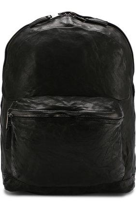 Кожаный рюкзак с эффектом крэш Giorgio Brato красный | Фото №1