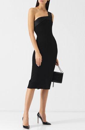Однотонное приталенное платье-миди Victoria Beckham белое | Фото №1