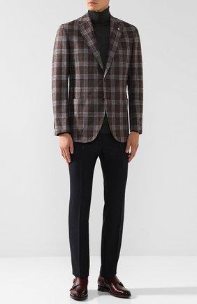 Однобортный пиджак из смеси шерсти и кашемира L.B.M. 1911 светло-коричневый | Фото №1