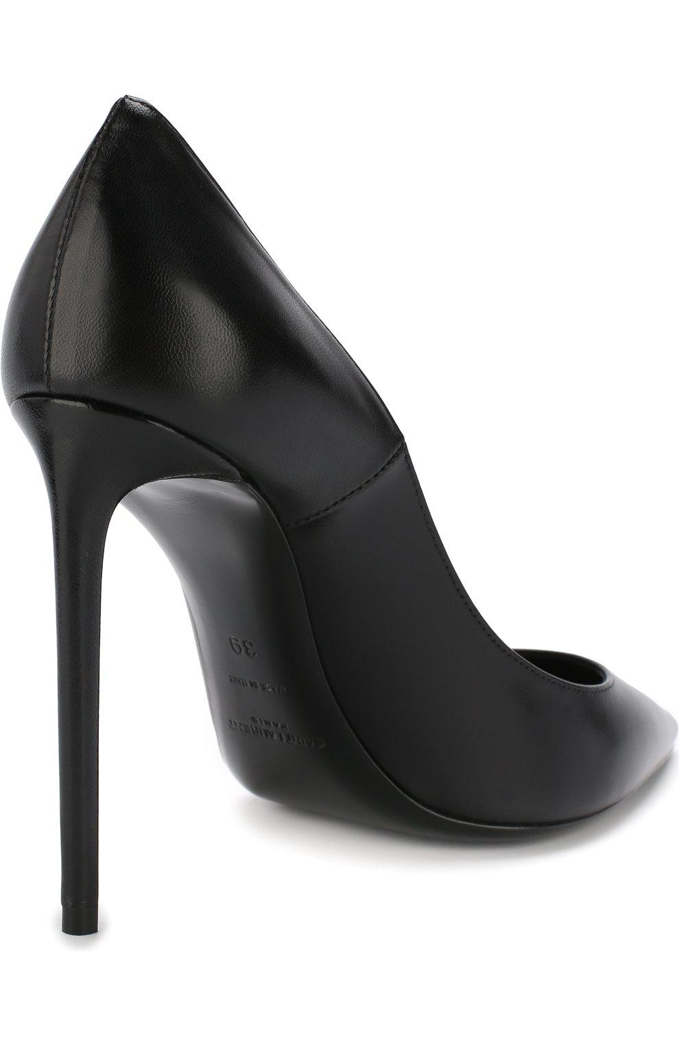 Кожаные туфли Zoe на шпильке | Фото №4
