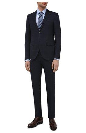 Мужской кожаные дерби с брогированием KITON темно-коричневого цвета, арт. USSDECHN00101 | Фото 2