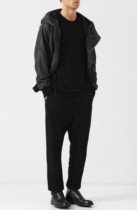 Высокие кожаные ботинки на молнии Moma черные | Фото №1