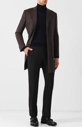 Мужской шерстяные брюки прямого кроя CORNELIANI черного цвета, арт. 825263-8818150/02 | Фото 2