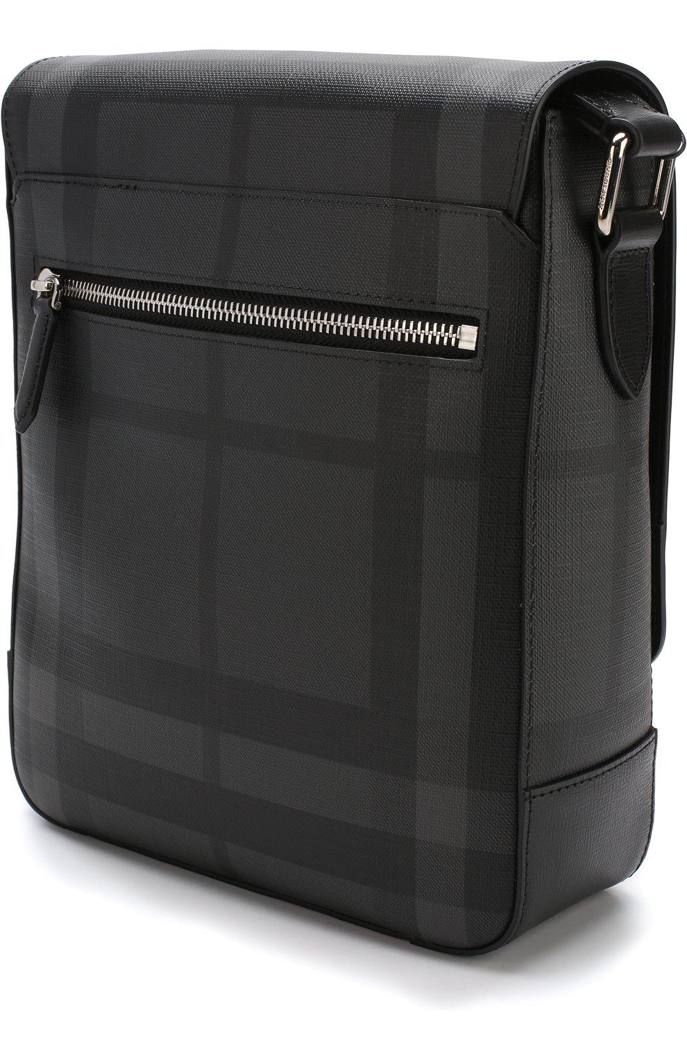 2bf2a2aa2947 Мужская темно-серого сумка-планшет в клетку london check BURBERRY ...