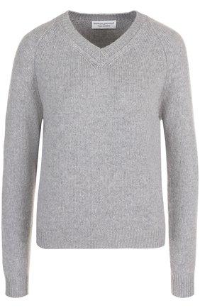 Кашемировый пуловер с V-образным вырезом Alexandra Golovanoff желтый | Фото №1
