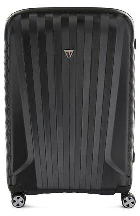 Женский дорожный чемодан uno zsl premium 2.0 на колесиках RONCATO черного цвета, арт. 54670101 | Фото 1