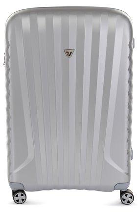 Женский дорожный чемодан uno zsl premium 2.0 на колесиках RONCATO серебряного цвета, арт. 54670225 | Фото 1