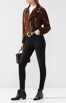 Женские кожаные ботинки susanna CHLOÉ черного цвета, арт. CHC16A13475 | Фото 2