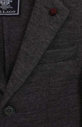 Шерстяной пиджак на двух пуговицах | Фото №3