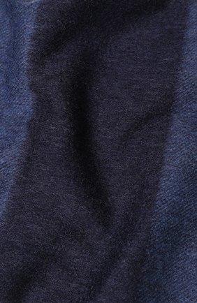 Мужской кашемировый шарф с бахромой RALPH LAUREN темно-синего цвета, арт. 790725272 | Фото 2