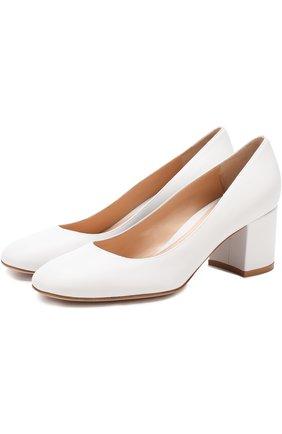 Кожаные туфли Gilda на устойчивом каблуке | Фото №1