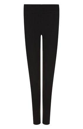Леггинсы с эластичным поясом и контрастными лампасами Y-3 черные | Фото №1