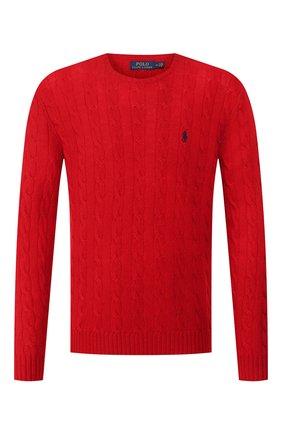 Мужской джемпер из смеси шерсти и кашемира POLO RALPH LAUREN красного цвета, арт. 710719546 | Фото 1
