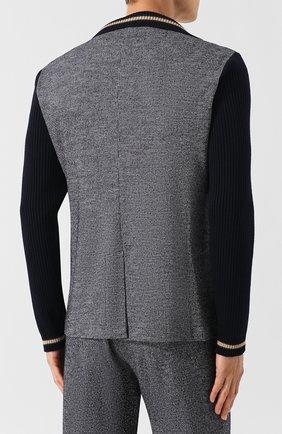 Однобортный пиджак из смеси шерсти и хлопка   Фото №4