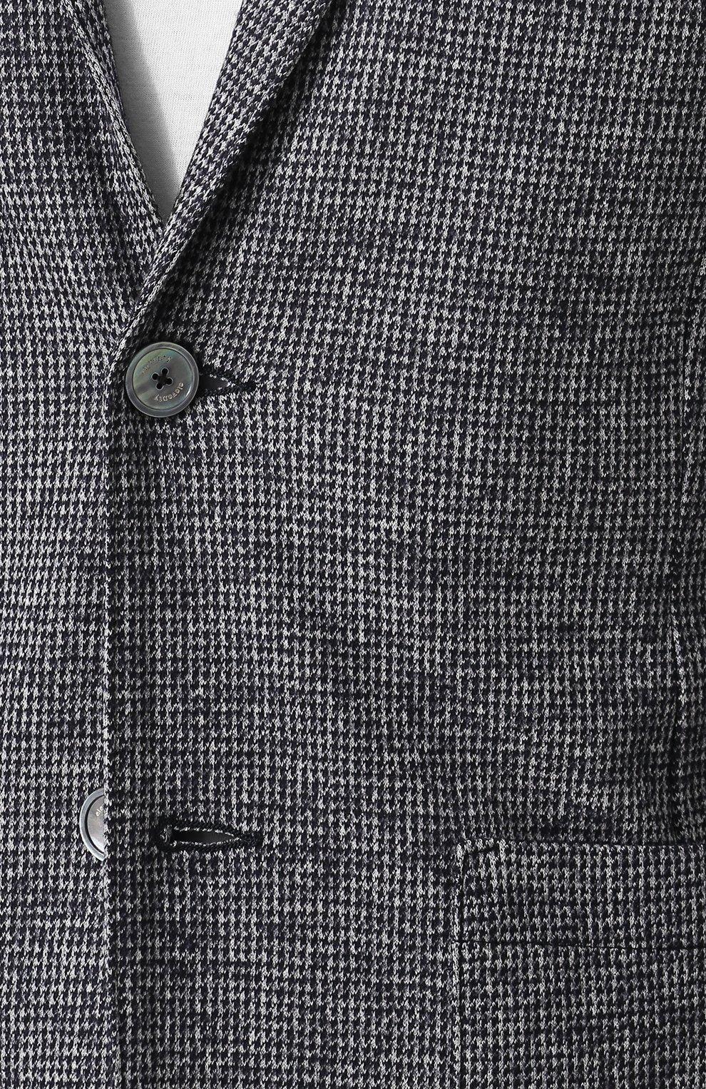 Однобортный пиджак из смеси шерсти и хлопка   Фото №5