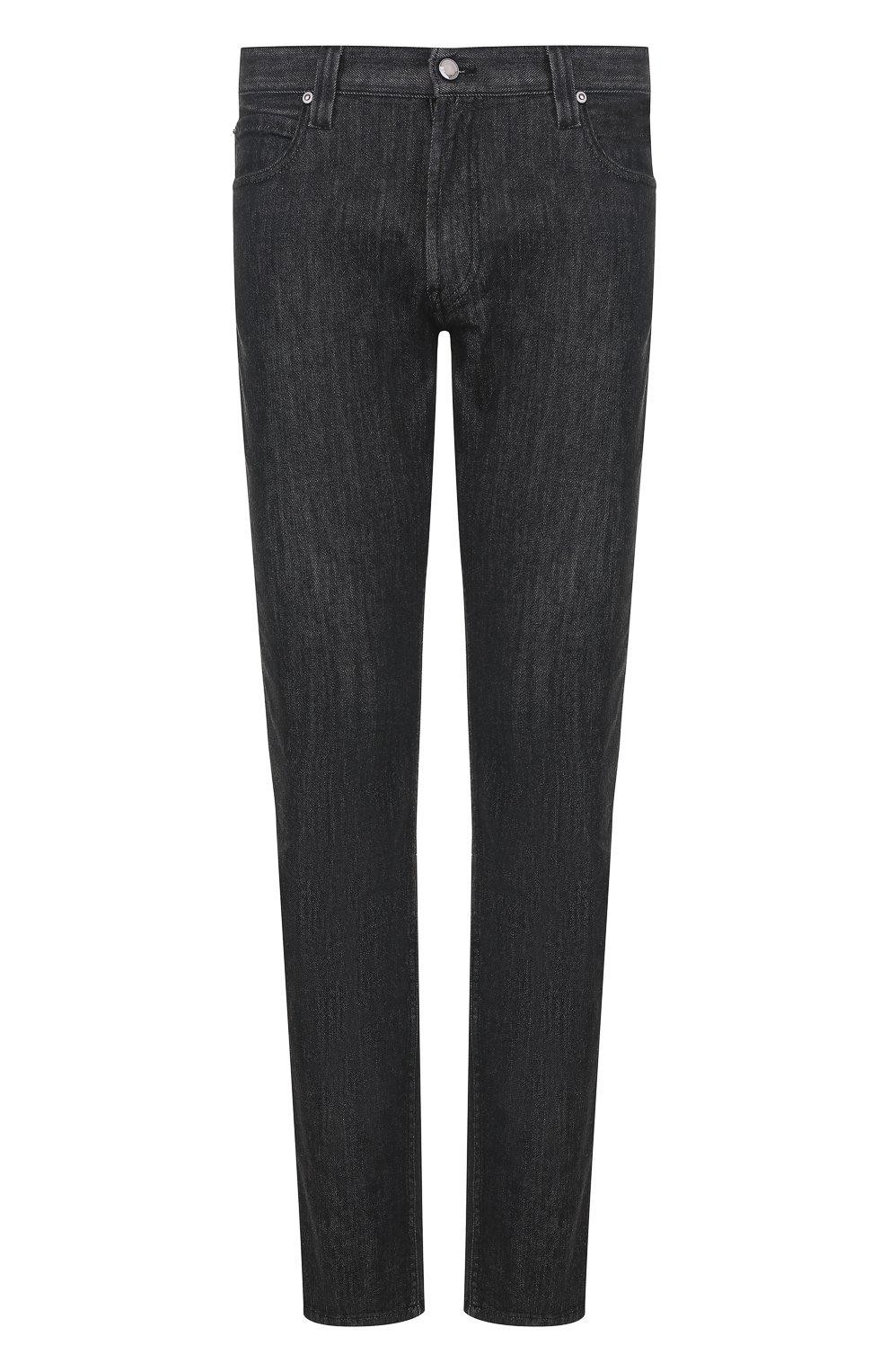 Мужские джинсы прямого кроя GIORGIO ARMANI черного цвета, арт. 6ZSJ15/SD30Z | Фото 1