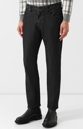 Мужские джинсы прямого кроя GIORGIO ARMANI черного цвета, арт. 6ZSJ15/SD30Z | Фото 3