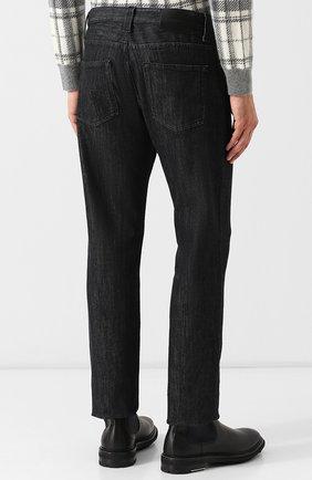 Мужские джинсы прямого кроя GIORGIO ARMANI черного цвета, арт. 6ZSJ15/SD30Z | Фото 4