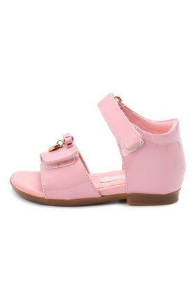Детские кожаные босоножки DOLCE & GABBANA светло-розового цвета, арт. D20045/A1328/19-28 | Фото 2