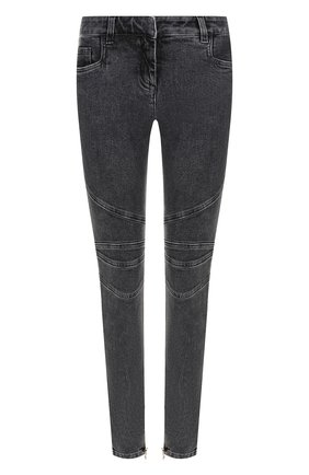 Женские джинсы-скинни с потертостями BALMAIN темно-серого цвета, арт. 145497/148K | Фото 1