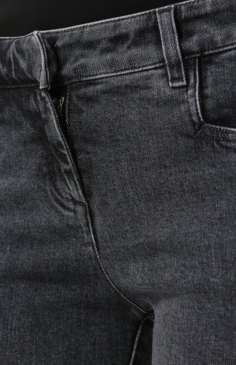 Женские джинсы-скинни с потертостями BALMAIN темно-серого цвета, арт. 145497/148K | Фото 5