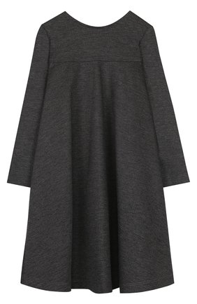 Детское платье из вискозы свободного кроя Aletta темно-серого цвета   Фото №1