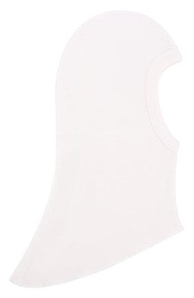 Балаклава-подшлемник из шерсти Norveg белого цвета | Фото №1