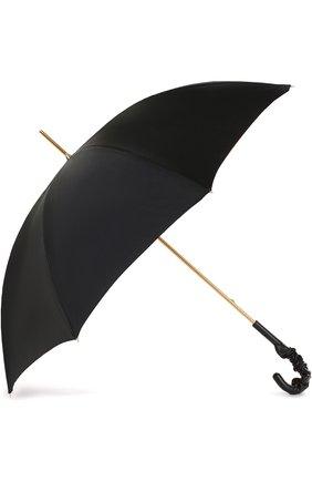 Женский зонт-трость PASOTTI OMBRELLI черного цвета, арт. 189/RAS0 5K598/3/A35 | Фото 2