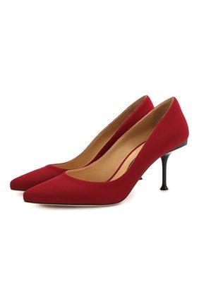 Текстильные туфли на шпильке