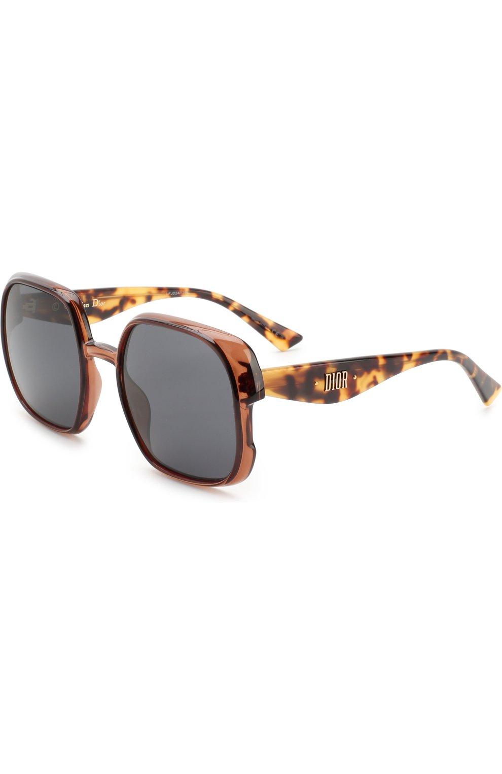 Женские солнцезащитные очки DIOR коричневого цвета, арт. DI0RNUANCE 09Q   Фото 1