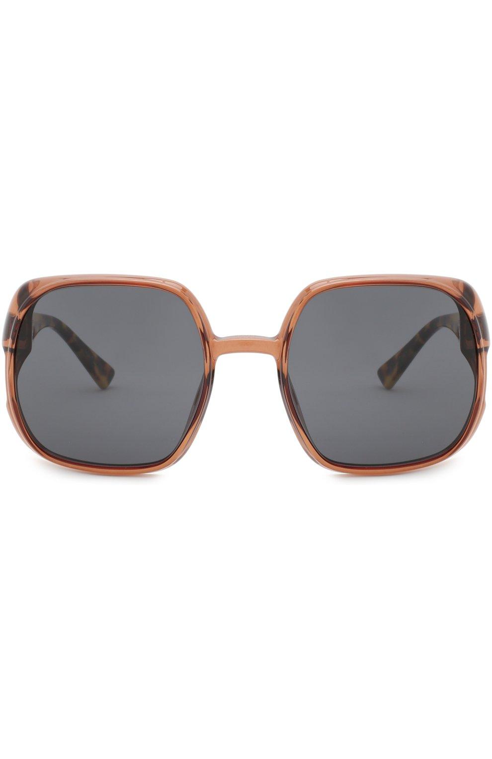 Женские солнцезащитные очки DIOR коричневого цвета, арт. DI0RNUANCE 09Q   Фото 3