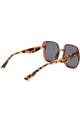 Женские солнцезащитные очки DIOR коричневого цвета, арт. DI0RNUANCE 09Q   Фото 4