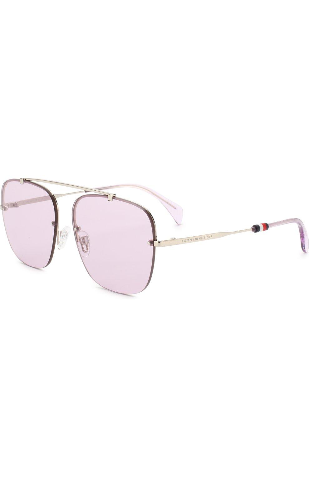 Женские солнцезащитные очки TOMMY HILFIGER светло-сиреневого цвета, арт. 1574 3YG | Фото 1