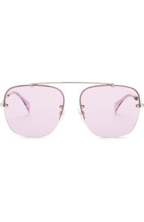 Женские солнцезащитные очки TOMMY HILFIGER светло-сиреневого цвета, арт. 1574 3YG | Фото 3