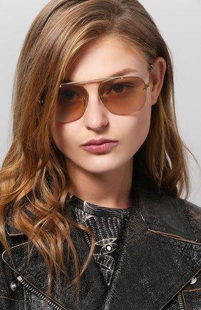 Солнцезащитные очки Tommy Hilfiger светло-коричневые | Фото №1