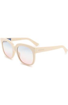 Женские солнцезащитные очки GUCCI белого цвета, арт. GG0361 002   Фото 1
