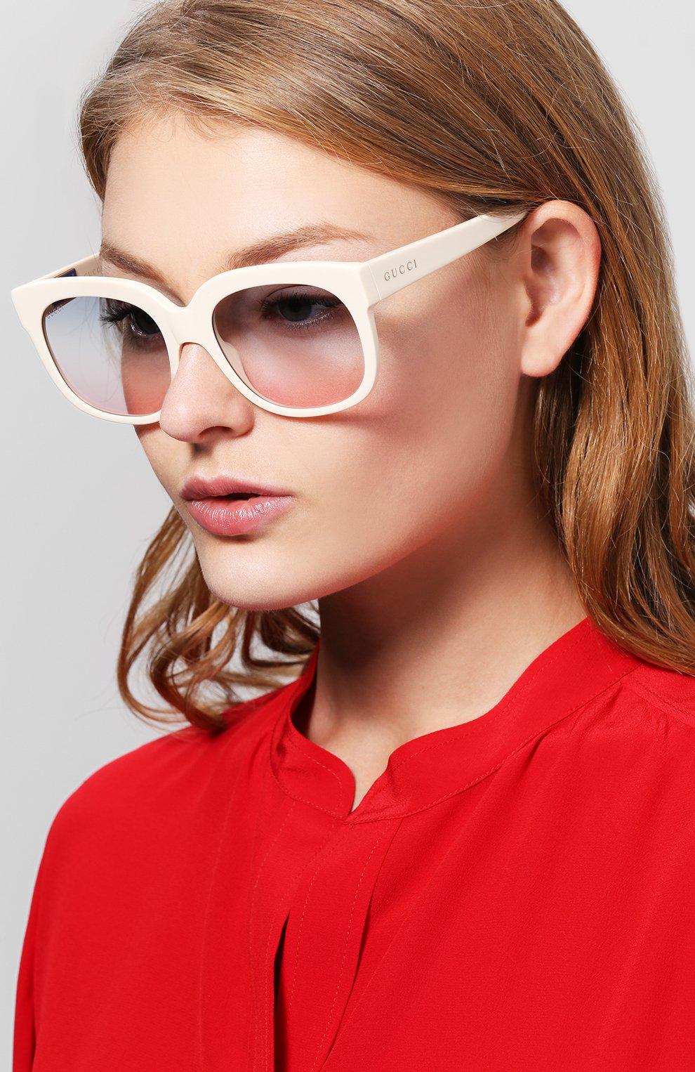 Женские солнцезащитные очки GUCCI белого цвета, арт. GG0361 002   Фото 2