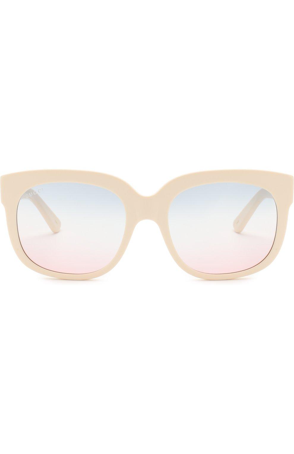 Женские солнцезащитные очки GUCCI белого цвета, арт. GG0361 002   Фото 3