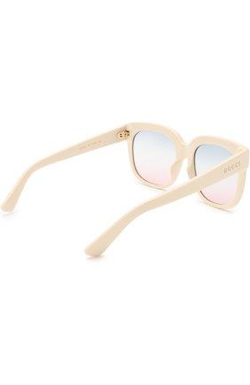 Женские солнцезащитные очки GUCCI белого цвета, арт. GG0361 002   Фото 4