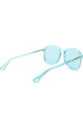Женские солнцезащитные очки GUCCI голубого цвета, арт. GG0259 001 | Фото 4
