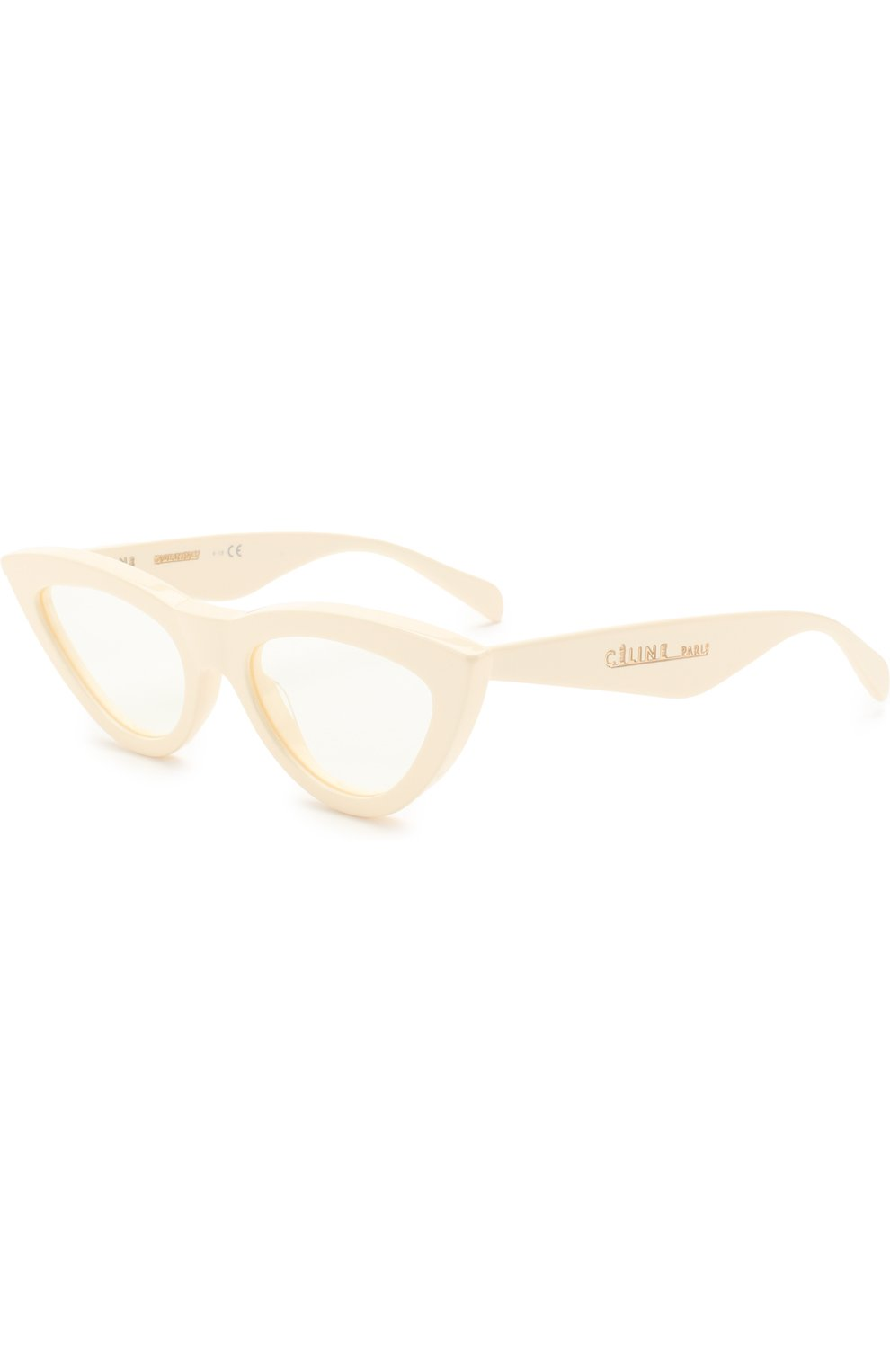 Женские солнцезащитные очки CELINE EYEWEAR белого цвета, арт. CL40019I 025 | Фото 1